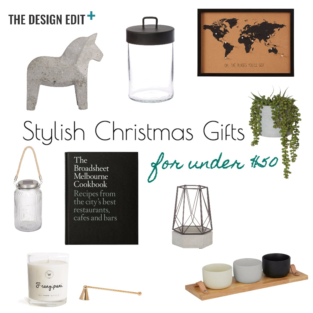 Stylish Christmas Gifts for Under $50 Mood Board by @thedesigneditau on Style Sourcebook