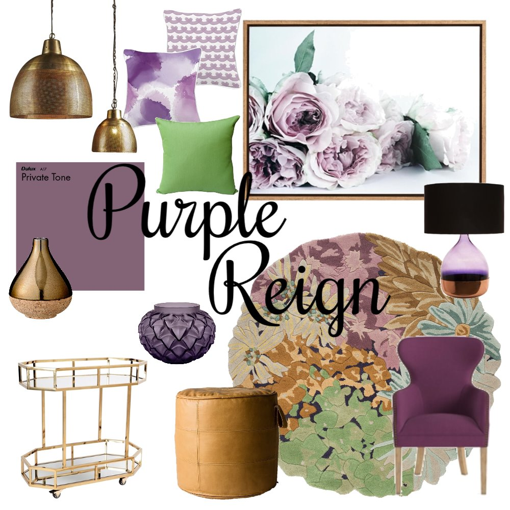 Purple Reign Mood Board by Casa & Co Interiors on Style Sourcebook