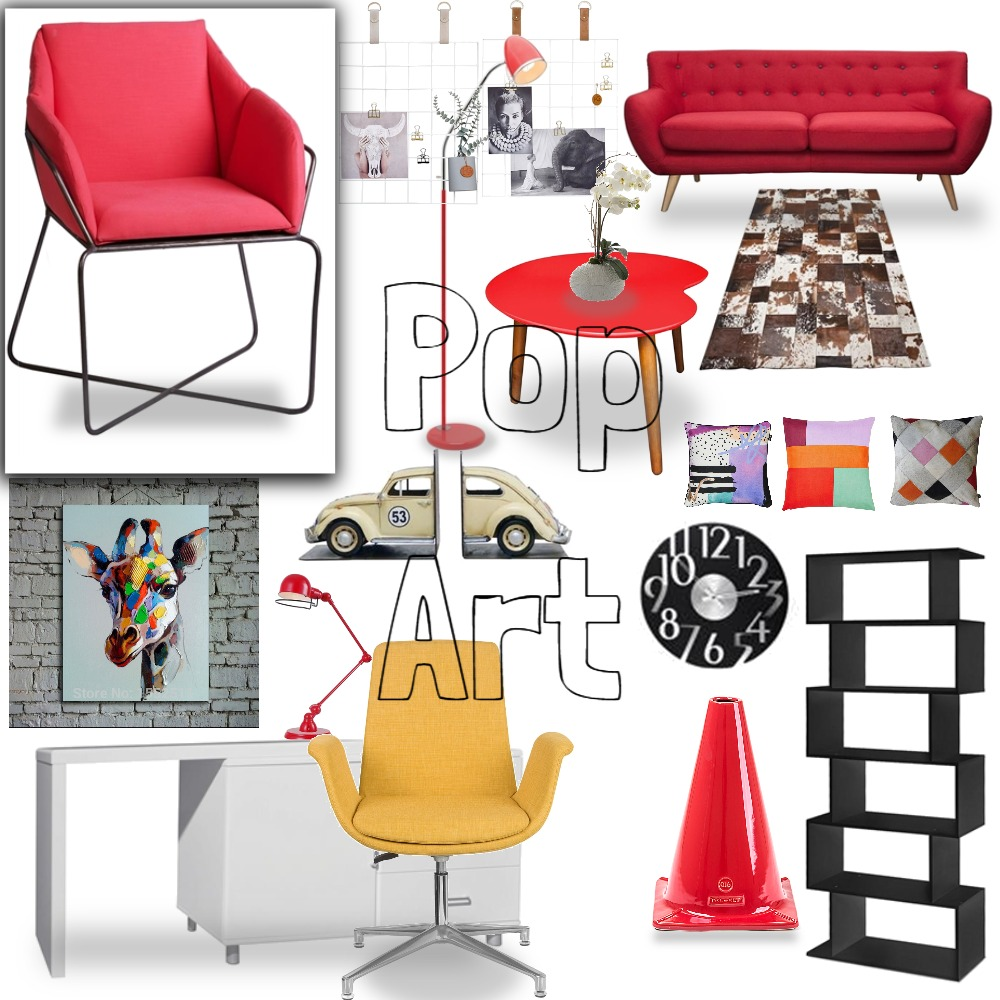 Pop Art Standard Interior Design Mood Board by LightOneSon on Style Sourcebook