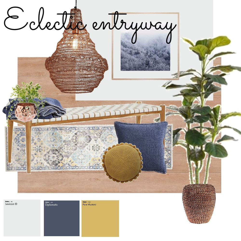 Eclectic entry Mood Board by mrs_wallwood on Style Sourcebook