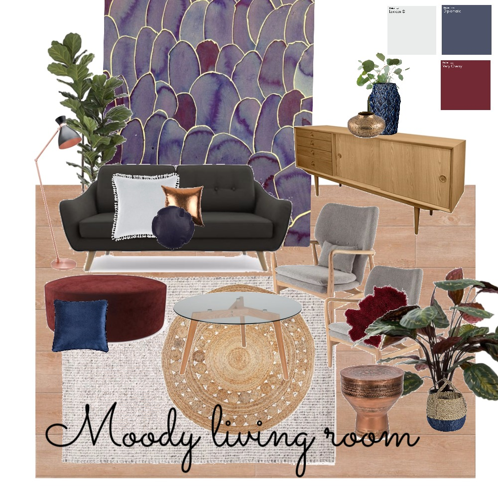 Moody Living room Mood Board by mrs_wallwood on Style Sourcebook