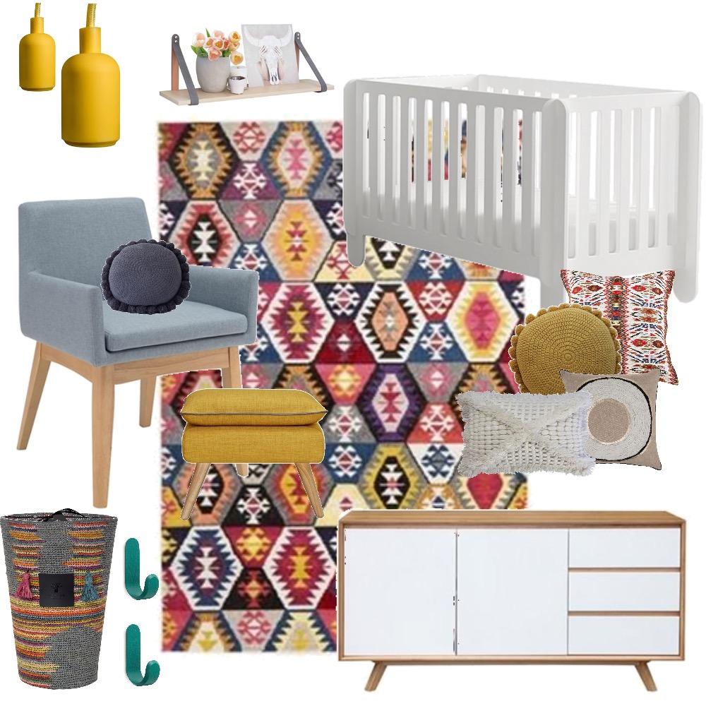 Bohemian 70s Nursery. Mood Board by Krysti-glory90 on Style Sourcebook