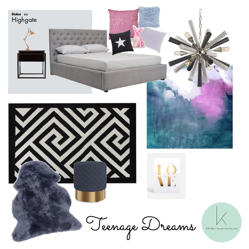 Teenage Dreams Interior Design Mood Board by Kate Vale / Design & Consulting  on Style Sourcebook