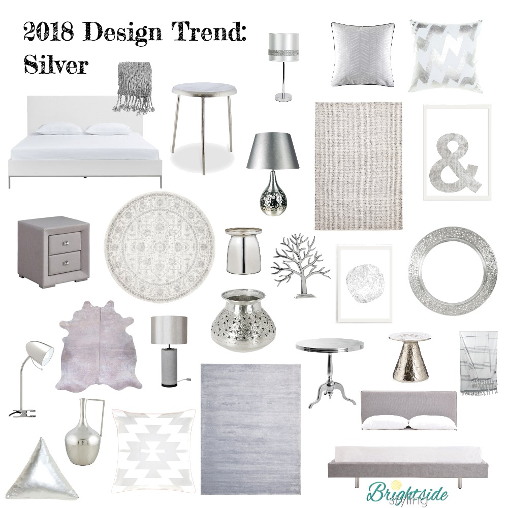 2018 Design Trend Silver Mood Board by brightsidestyling on Style Sourcebook