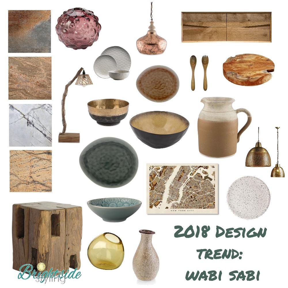 2018 Design Trend: Wabi Sabi Mood Board by brightsidestyling on Style Sourcebook