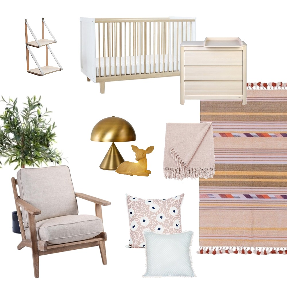 Girl's Nursery Mood Board by getinmyhome on Style Sourcebook