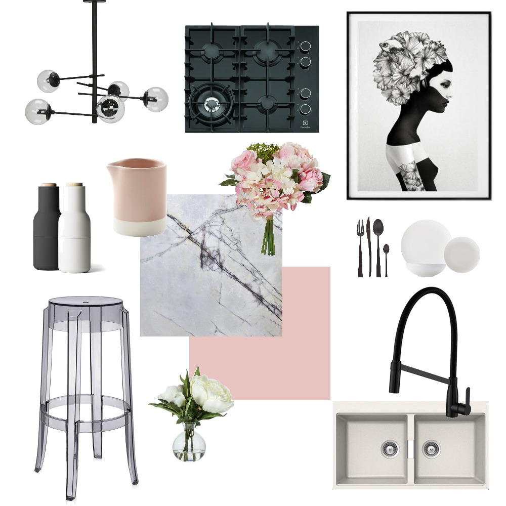 Feminine Kitchen Mood Board by Fauve_by_Design on Style Sourcebook