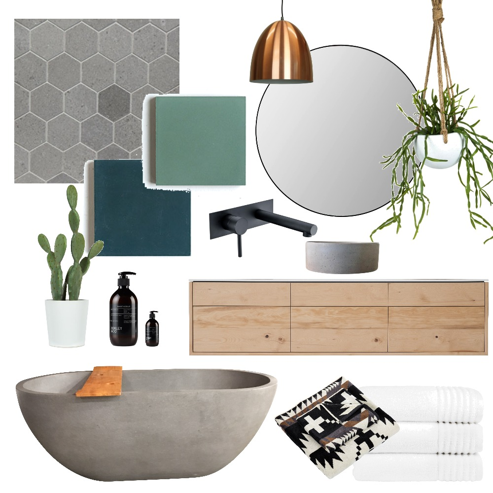 Earthy Bathroom Interior Design Mood Board by Fauve_by_Design on Style Sourcebook