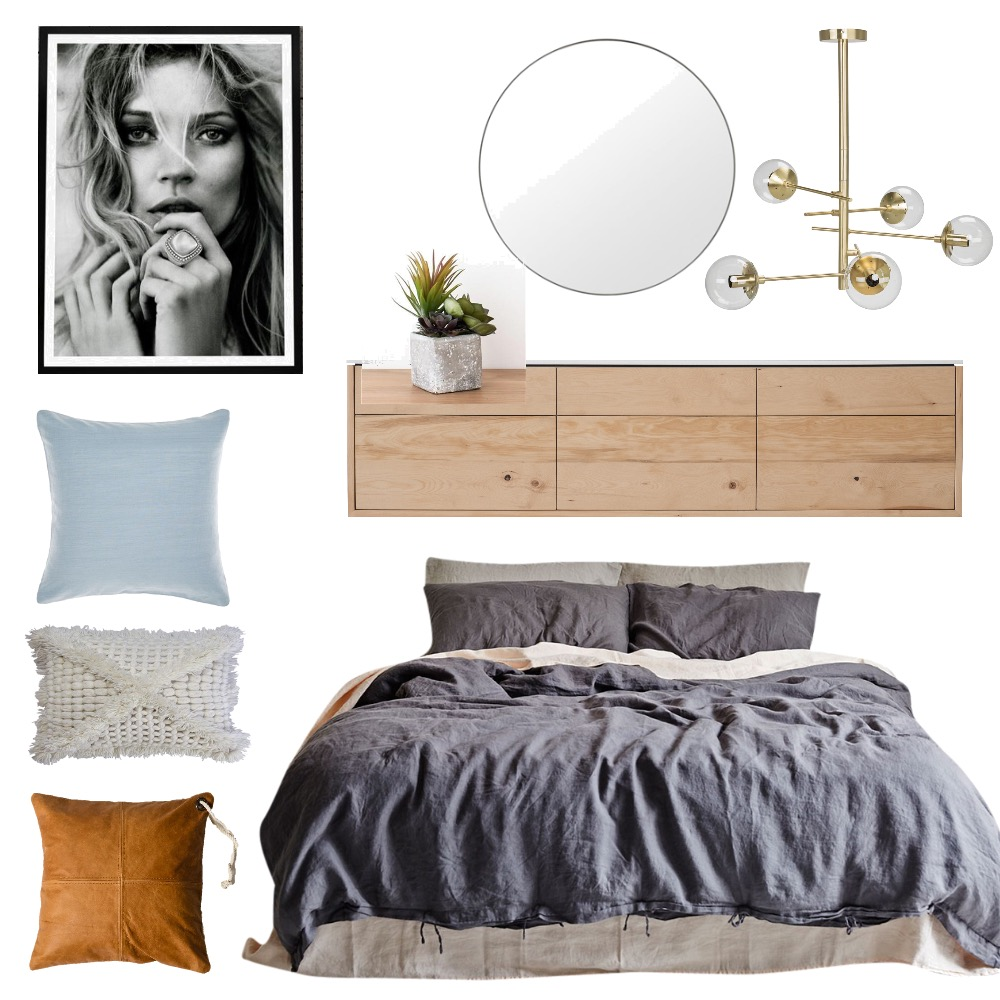 Coastal Luxe Bedroom Mood Board by A Piece of Brie on Style Sourcebook