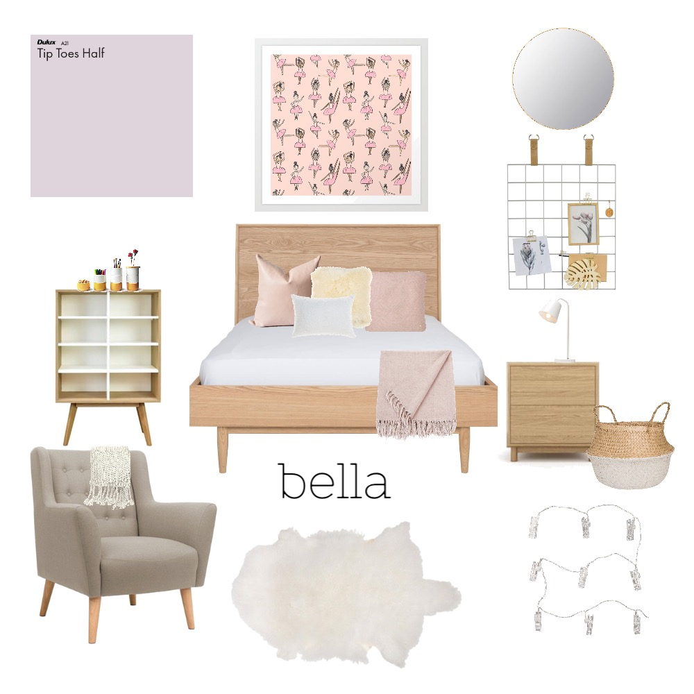 Girls room Interior Design Mood Board by kcinteriors on Style Sourcebook