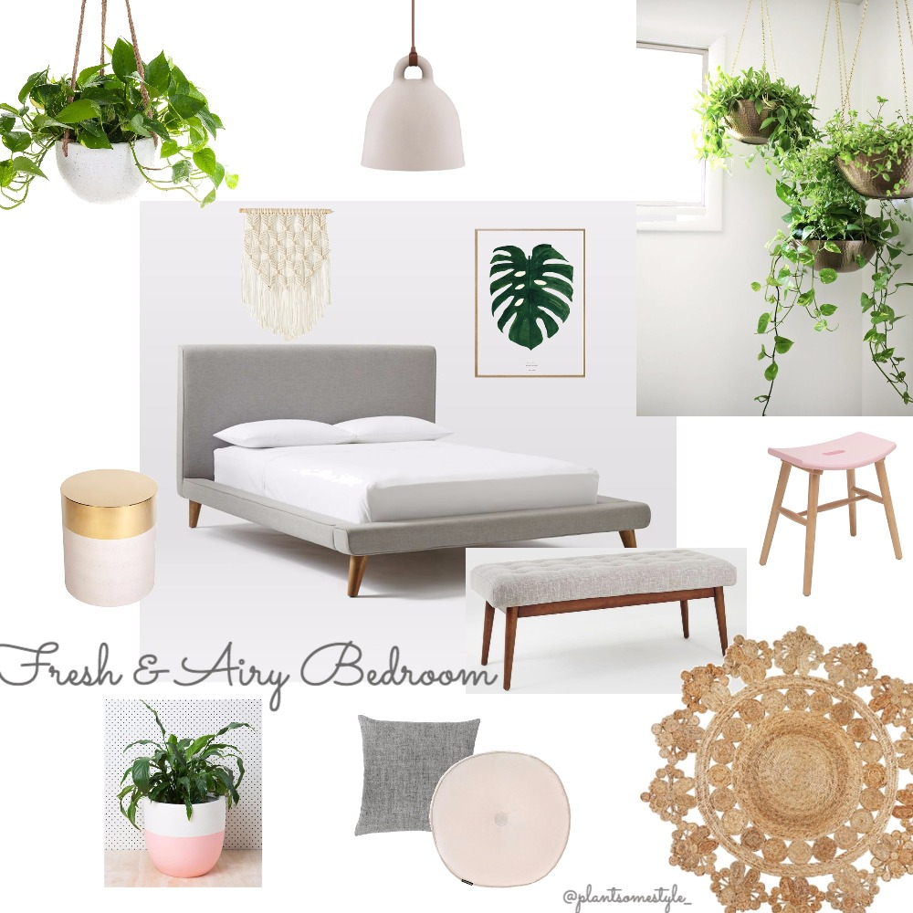 Fresh & Airy Bedroom Mood Board by Plant some Style on Style Sourcebook