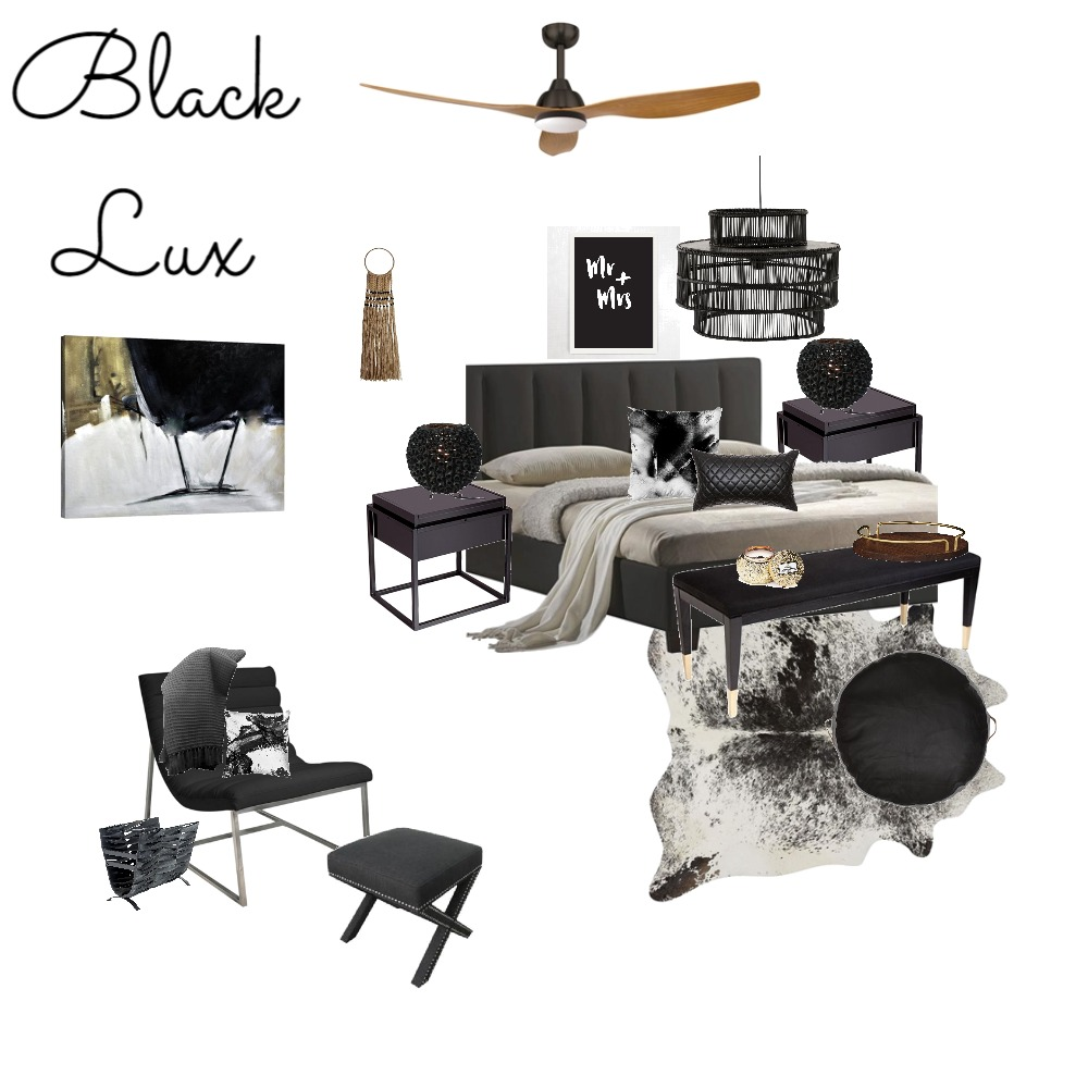 Black Lux Interior Design Mood Board by the.stuff.and.the.thangs on Style Sourcebook