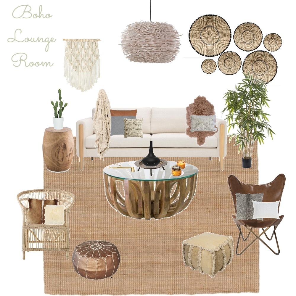 Boho Lounge Room Mood Board by the.stuff.and.the.thangs on Style Sourcebook