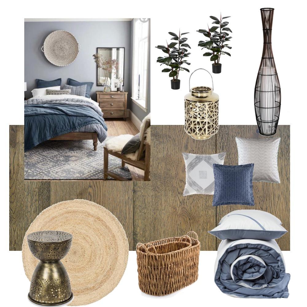 camera legno blu grigio Mood Board by E.P.T. on Style Sourcebook