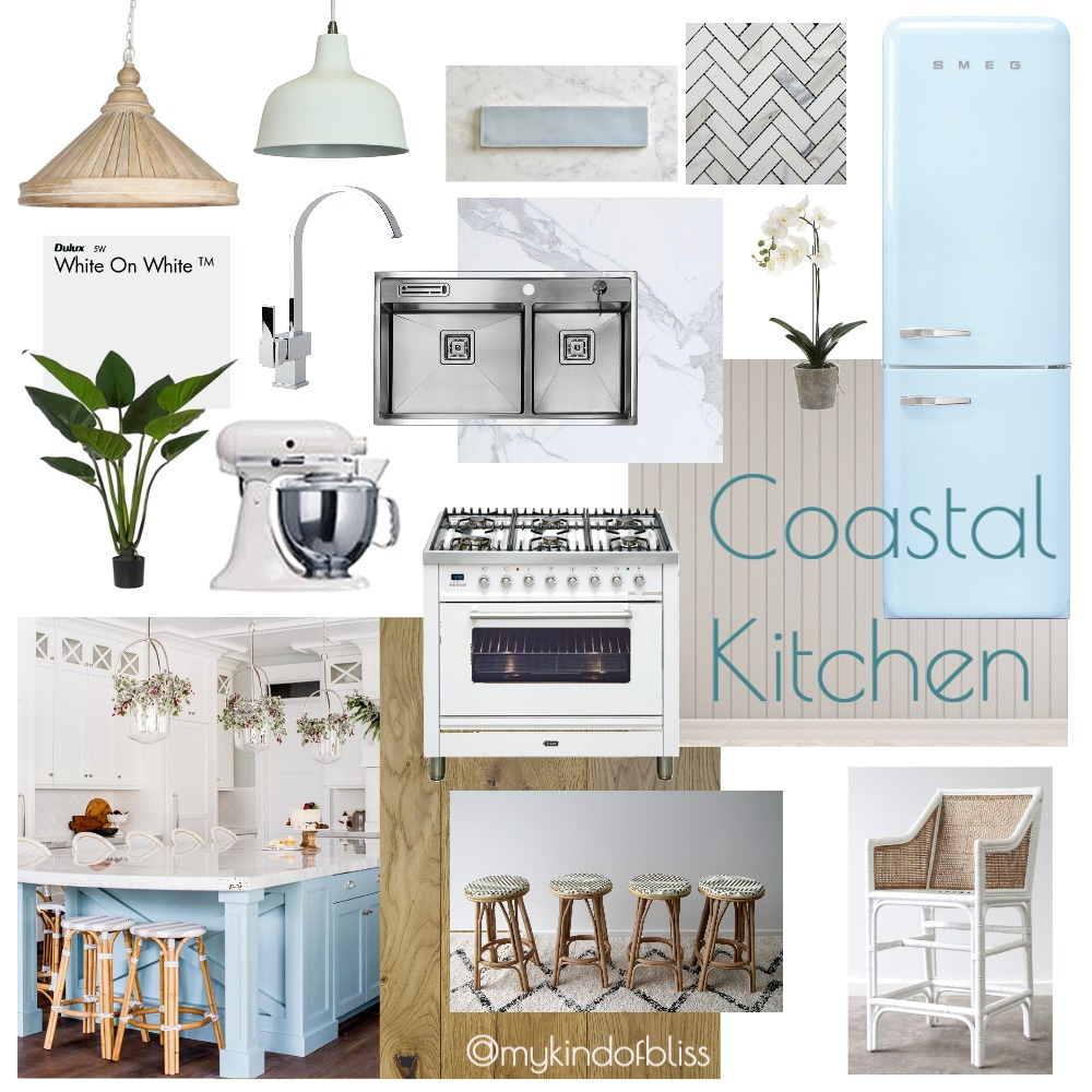 Coastal Kitchen Interior Design Mood Board by My Kind Of Bliss on Style Sourcebook