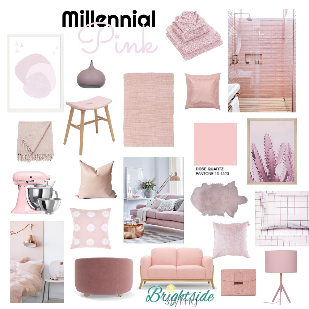 Millennial Pink Mood Board by brightsidestyling on Style Sourcebook