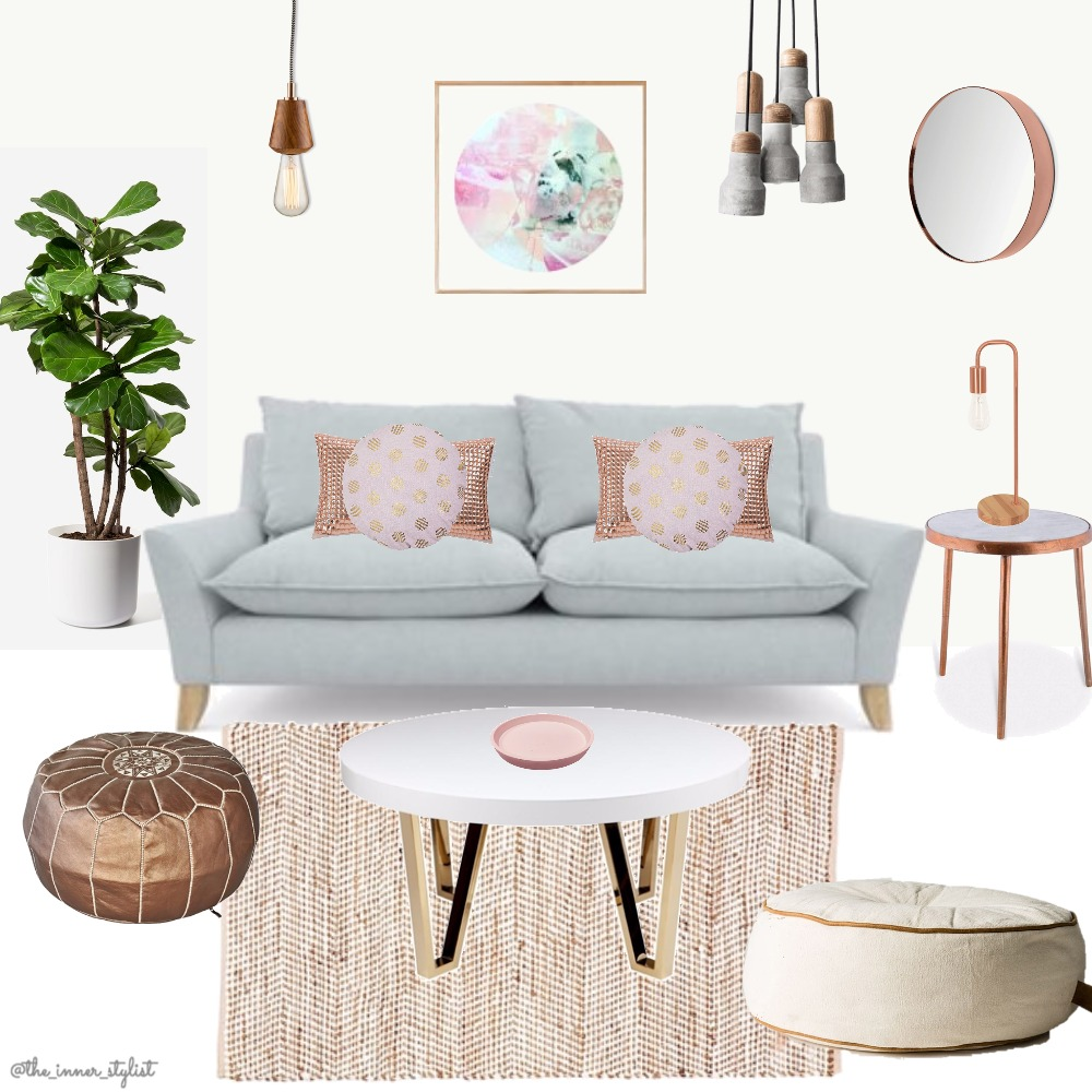 Copper Blush Living Mood Board by Plant some Style on Style Sourcebook