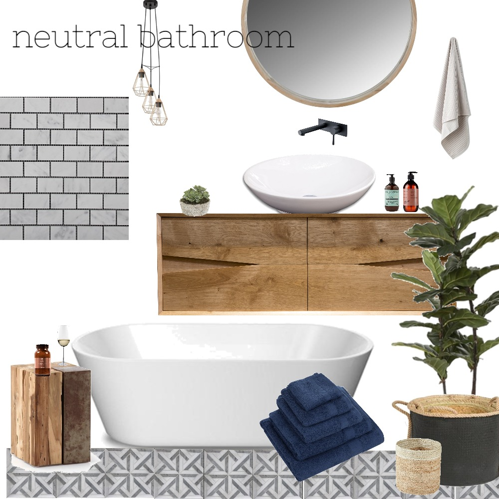 neutral bathroom Mood Board by Chasing Spring on Style Sourcebook