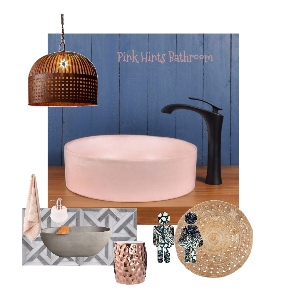 Pink Hints Bathroom Mood Board by Just In Place on Style Sourcebook