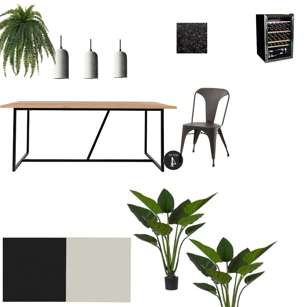 Black and concrete outdoor party zone Interior Design Mood Board by Joanne on Style Sourcebook