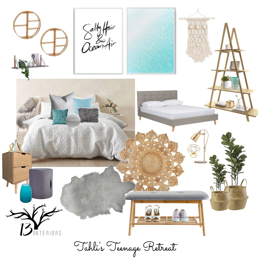 Teenage Girls Bedroom Mood Board by 13 Interiors on Style Sourcebook