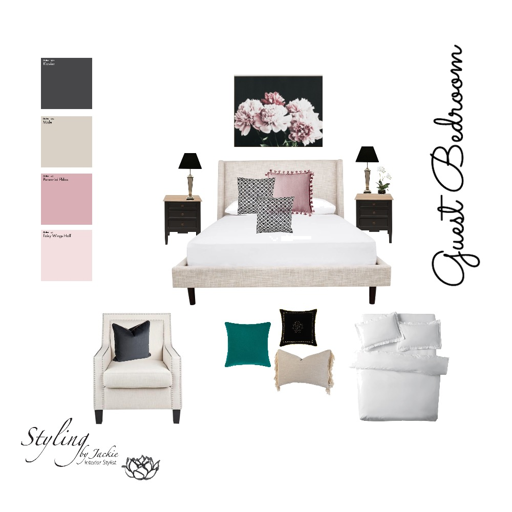 Guest Bedroom Mood Board by Styling by Jackie on Style Sourcebook