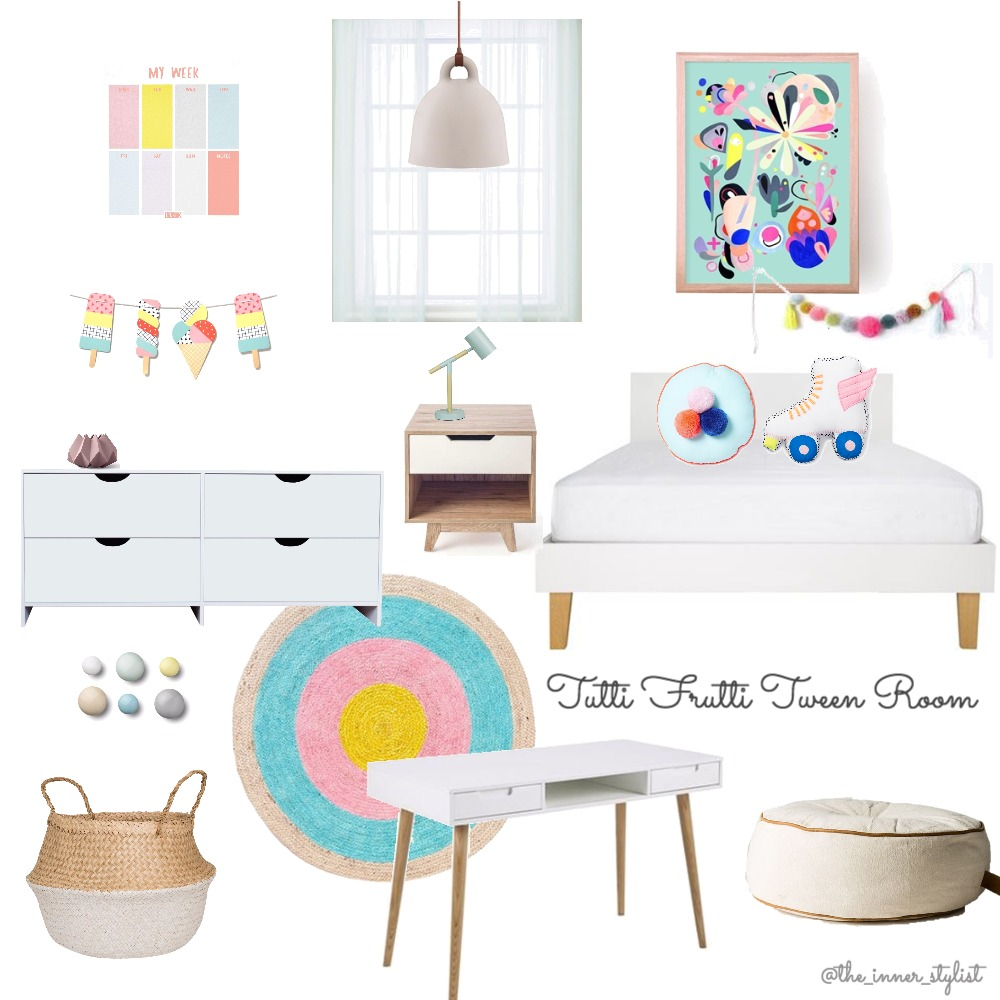 Tutti Frutti Teen Room Mood Board by Plant some Style on Style Sourcebook