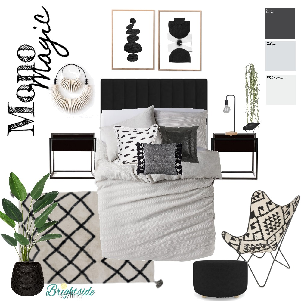 Mono Magic Mood Board by brightsidestyling on Style Sourcebook