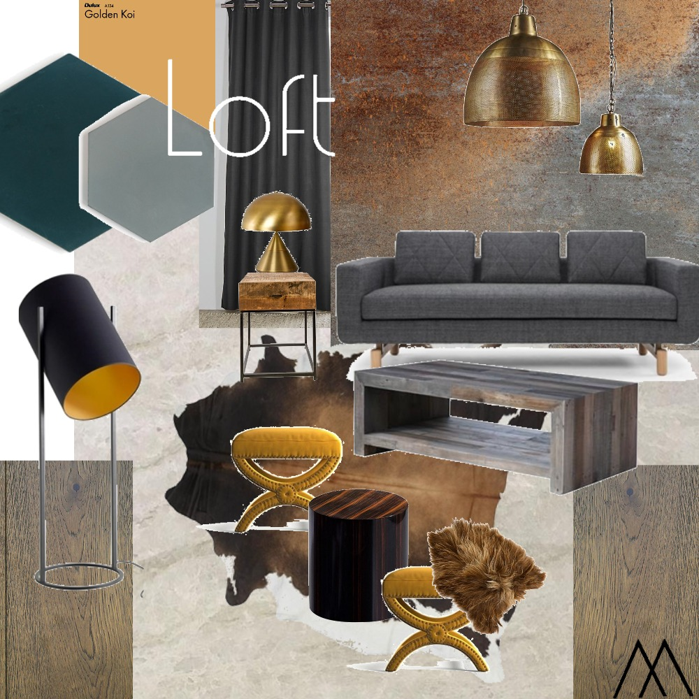 Loft/Livingroom Interior Design Mood Board by MDRueda on Style Sourcebook