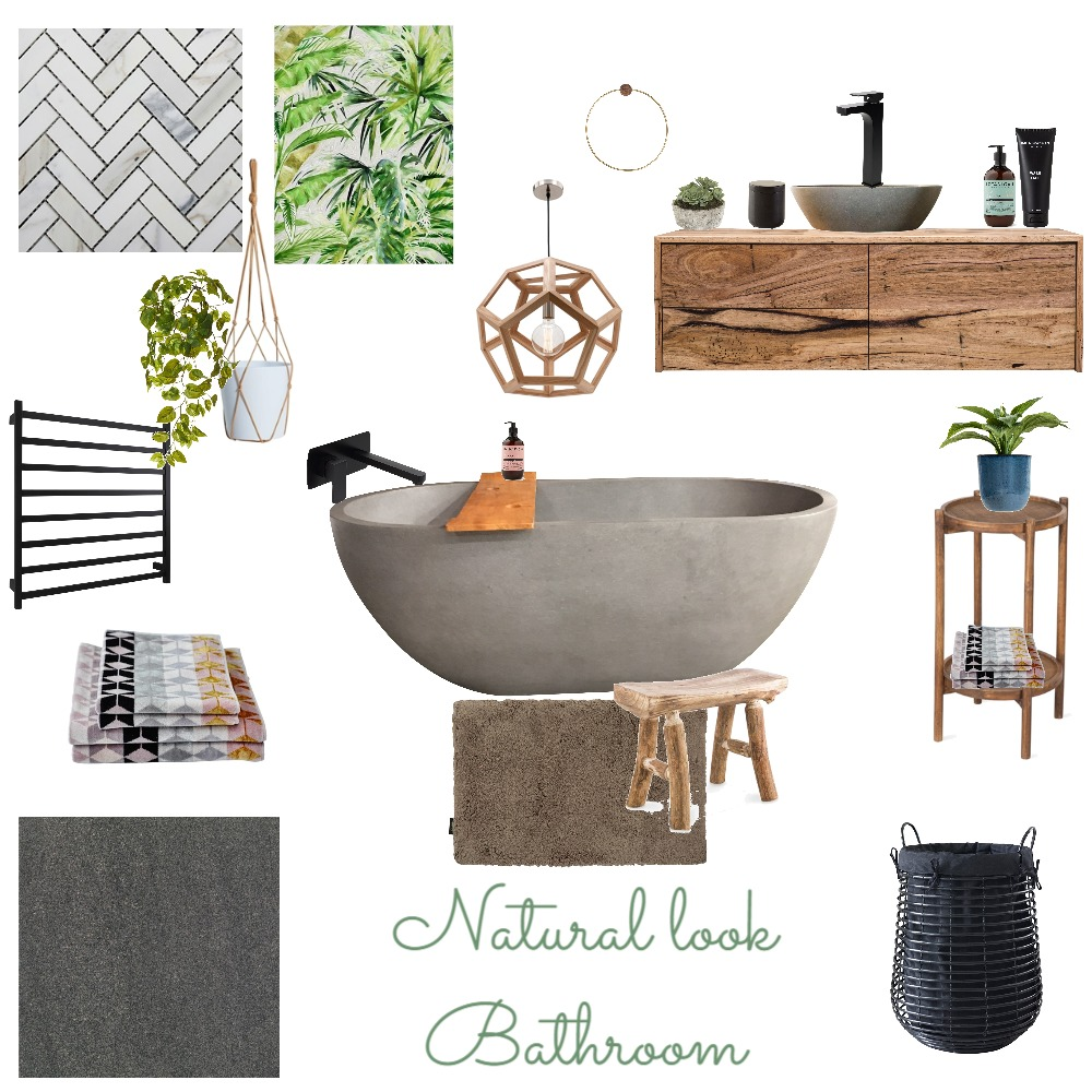 Natural look Bathroom Mood Board by the.stuff.and.the.thangs on Style Sourcebook