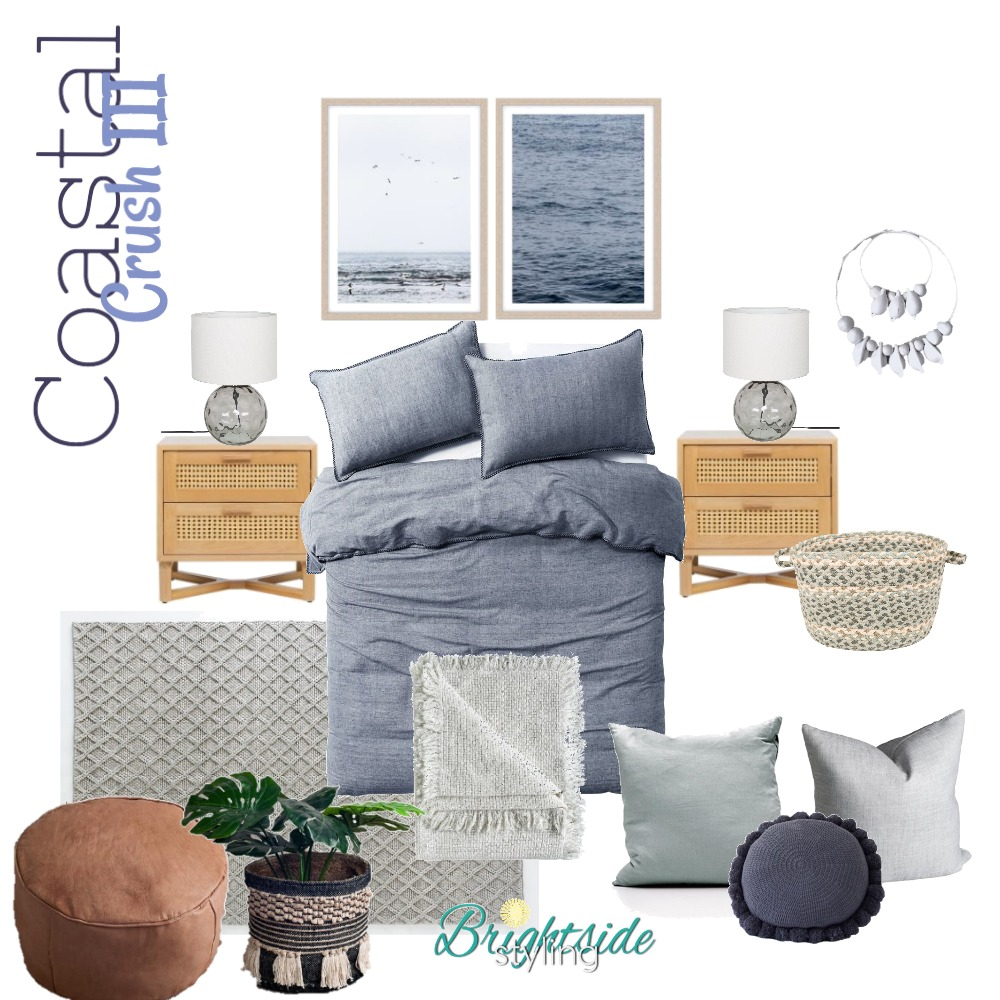 Coastal Crush - High End Budget Mood Board by brightsidestyling on Style Sourcebook