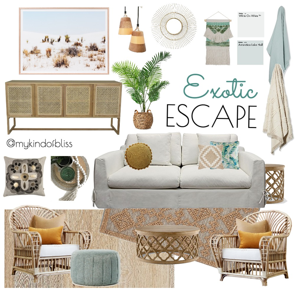 Exotic Escape Mood Board by My Kind Of Bliss on Style Sourcebook