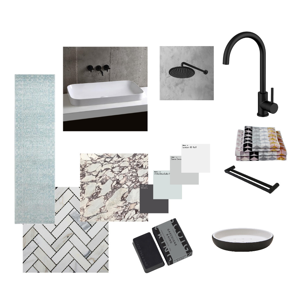 Guest Bathroom Mood Board by acb on Style Sourcebook