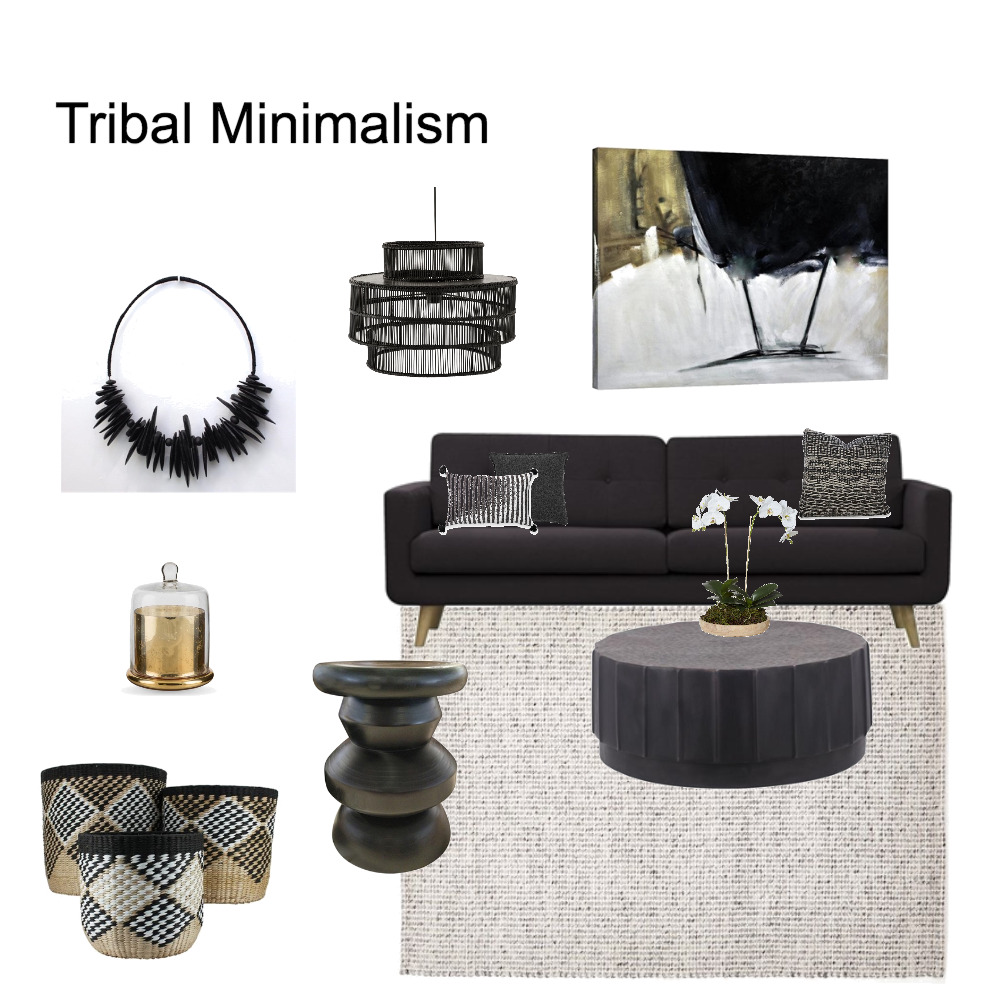 Tribal Minimalism Mood Board by acb on Style Sourcebook