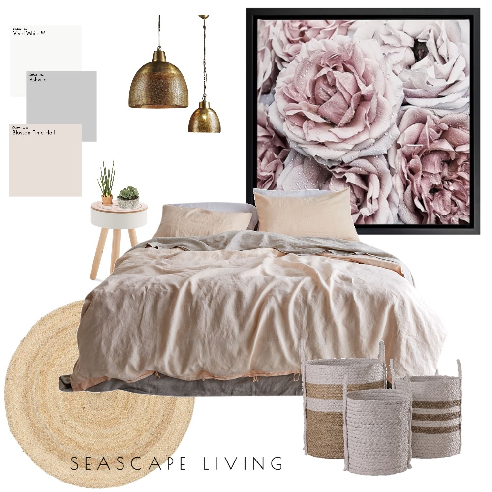 Blush Bedroom Mood Board by Seascape Living on Style Sourcebook