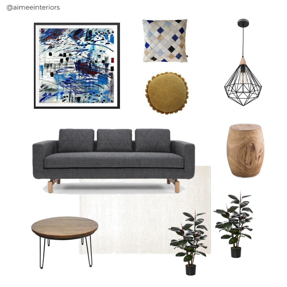 Blue Lounge Mood Board by Aimee & Co. Interior Styling on Style Sourcebook
