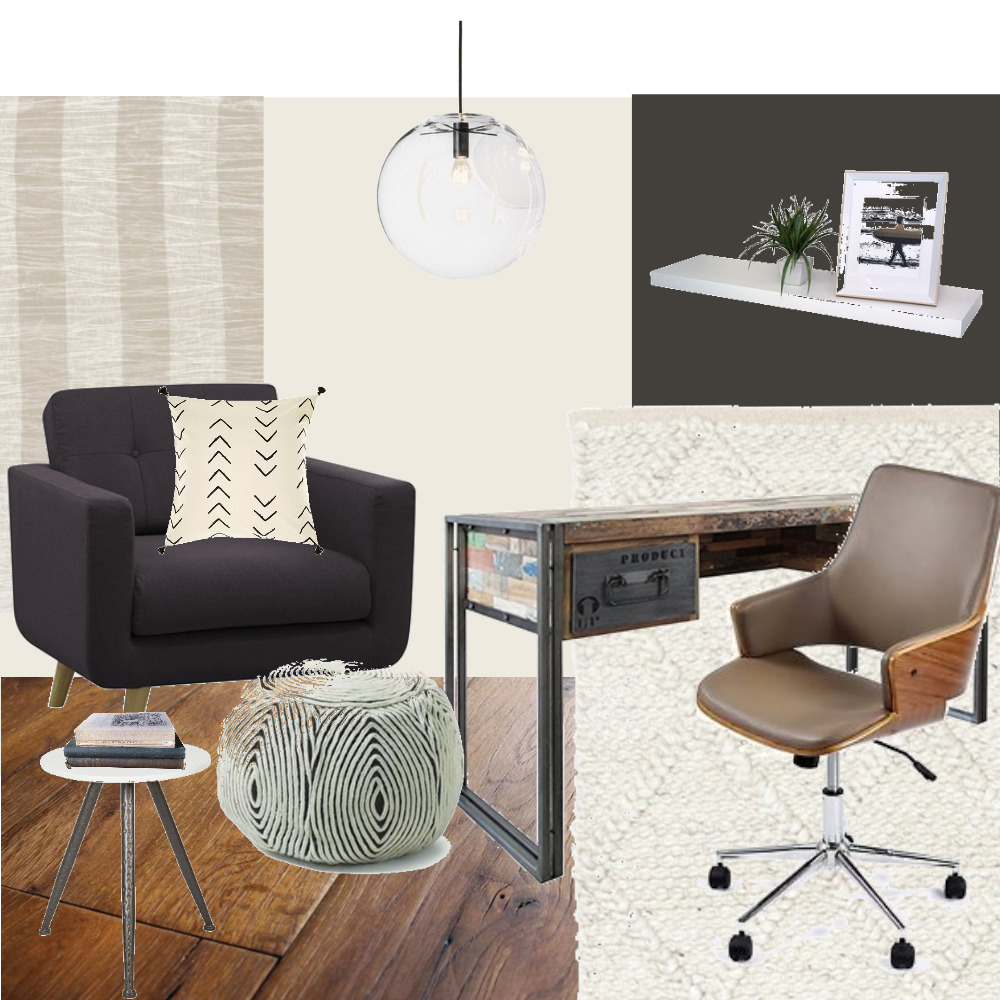 Achromatic Office Mood Board by ddumeah on Style Sourcebook