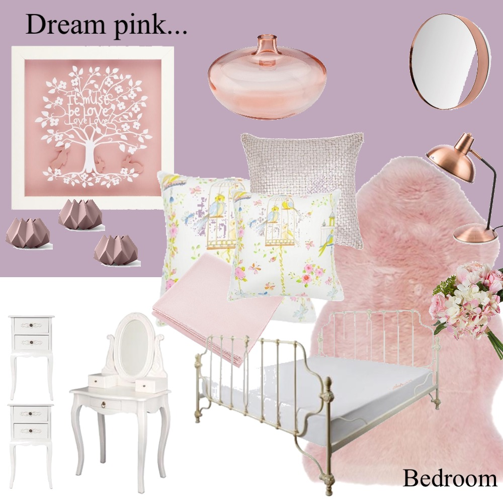 BEDROOM , pink dream Interior Design Mood Board by Angela Stoakley on Style Sourcebook