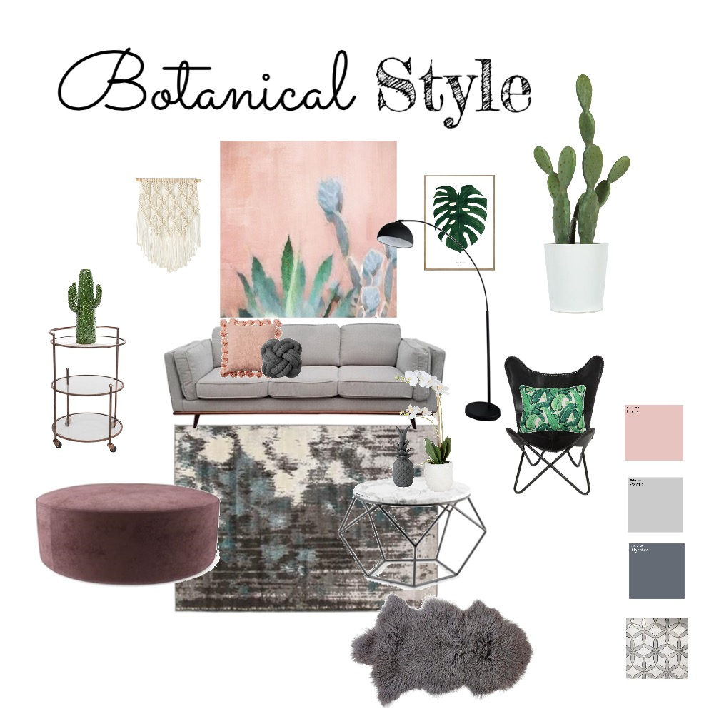 Botanical living Style Interior Design Mood Board by InStyle Idea on Style Sourcebook