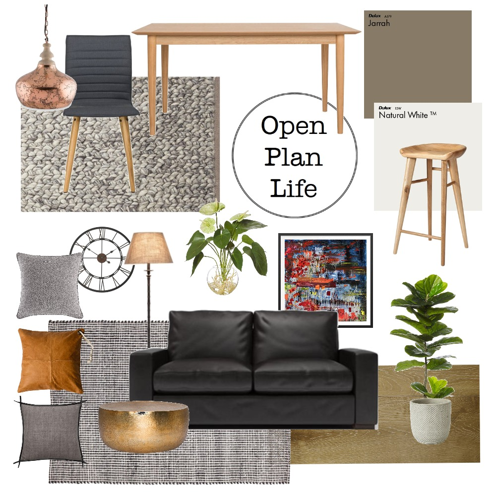 Open Plan Life Interior Design Mood Board by Presentation Plus on Style Sourcebook