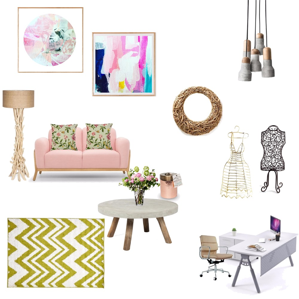 work space for a fashion designer! Mood Board by Shiza K on Style Sourcebook