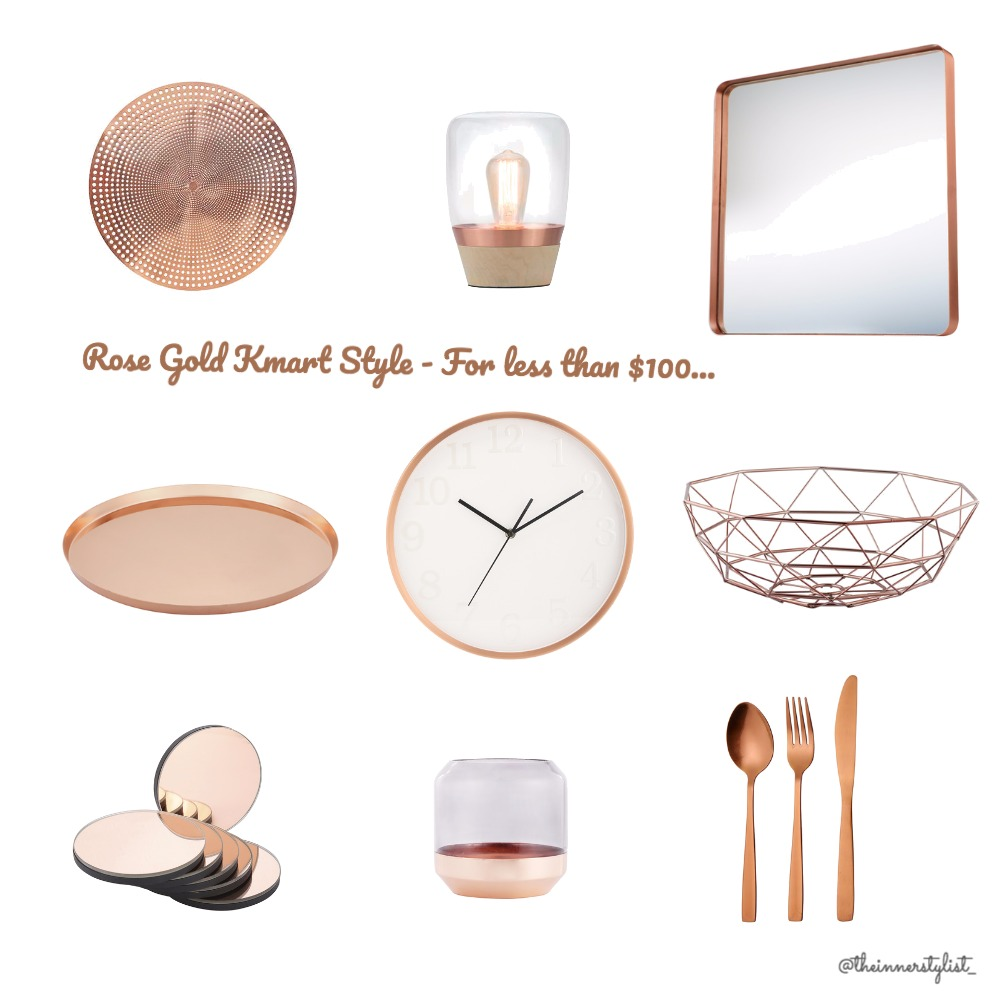 Rose Gold Kmart Style Mood Board by Plant some Style on Style Sourcebook