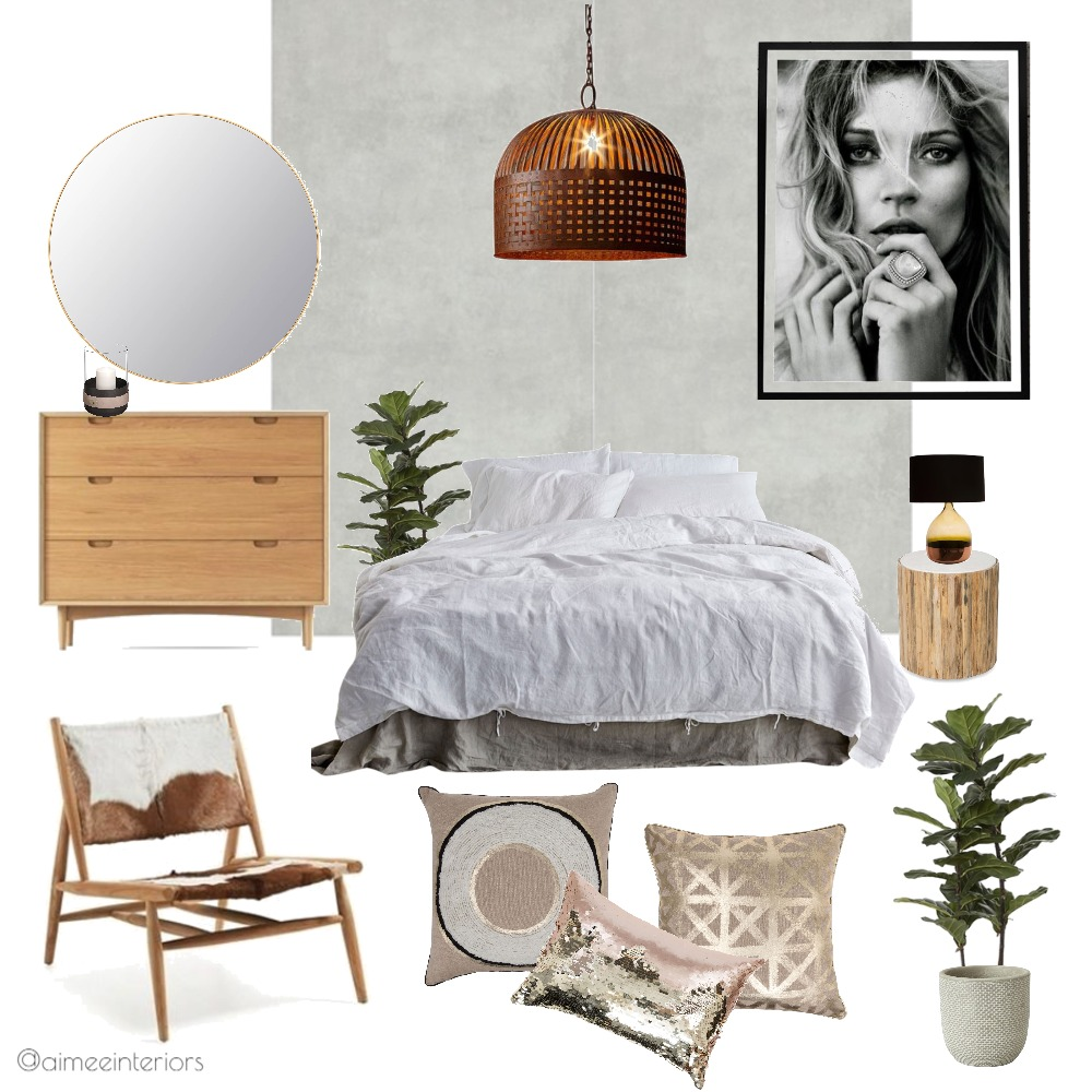 Warrior Bedroom Mood Board by Aimee & Co. Interior Styling on Style Sourcebook