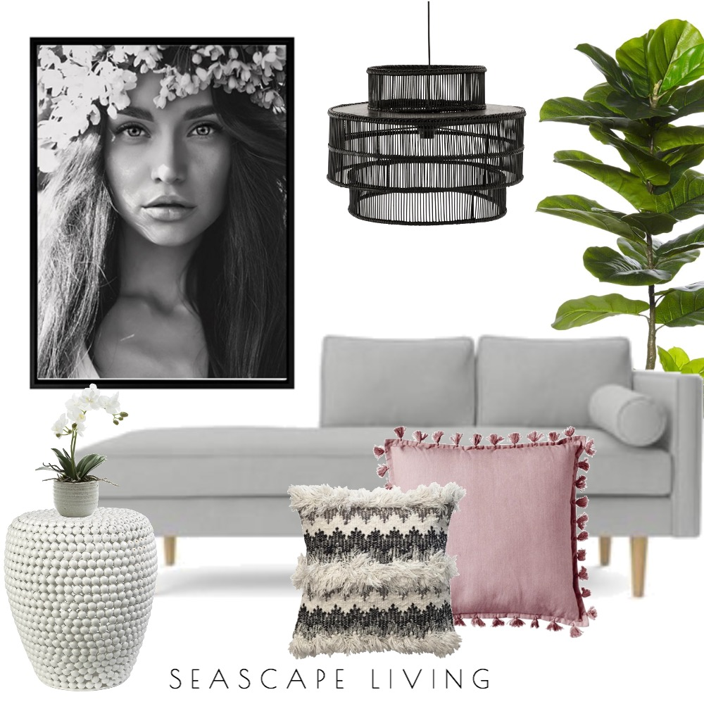 Boho Bliss Interior Design Mood Board by Seascape Living on Style Sourcebook