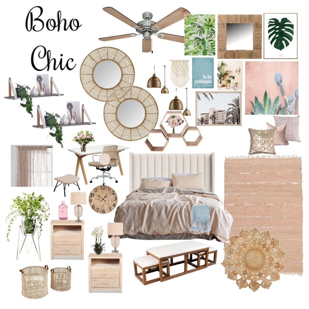 Boho Chic Bedroom Mood Board by BimBim on Style Sourcebook