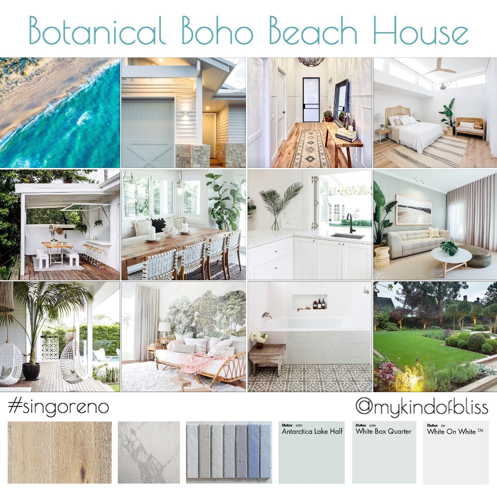Botanical Boho Beach House Interior Design Mood Board by My Kind Of Bliss on Style Sourcebook