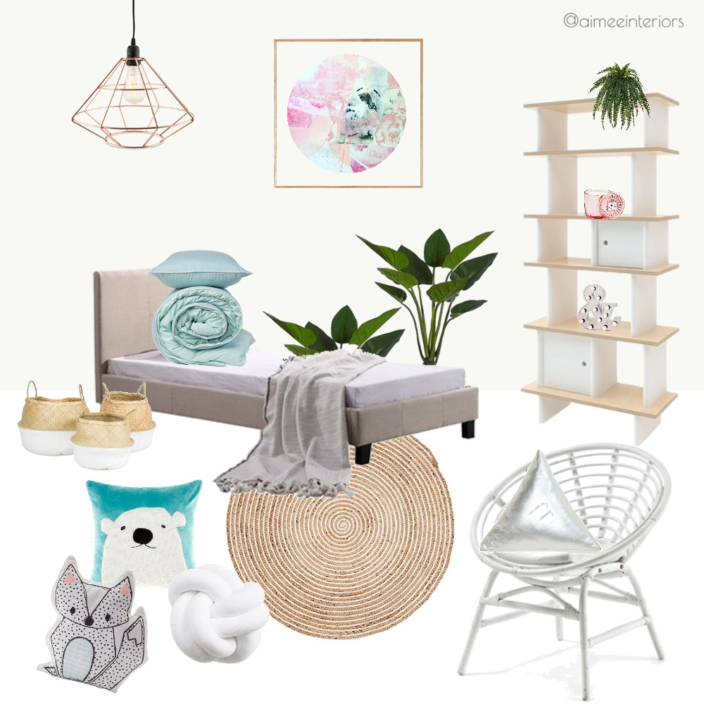 Young Bedroom Mood Board by Aimee & Co. Interior Styling on Style Sourcebook