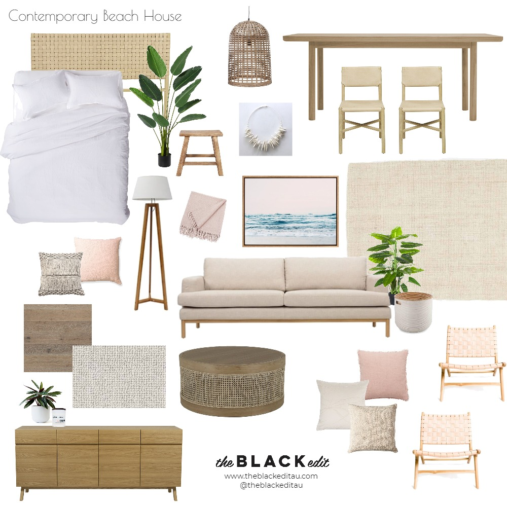 Contemporary Beach House Mood Board by the BLACK edit on Style Sourcebook