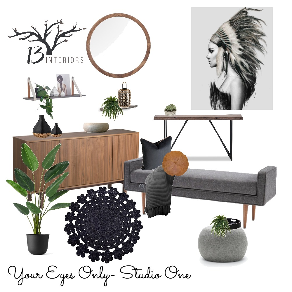 Studio 1- Your Eyes Only Mood Board by 13 Interiors on Style Sourcebook