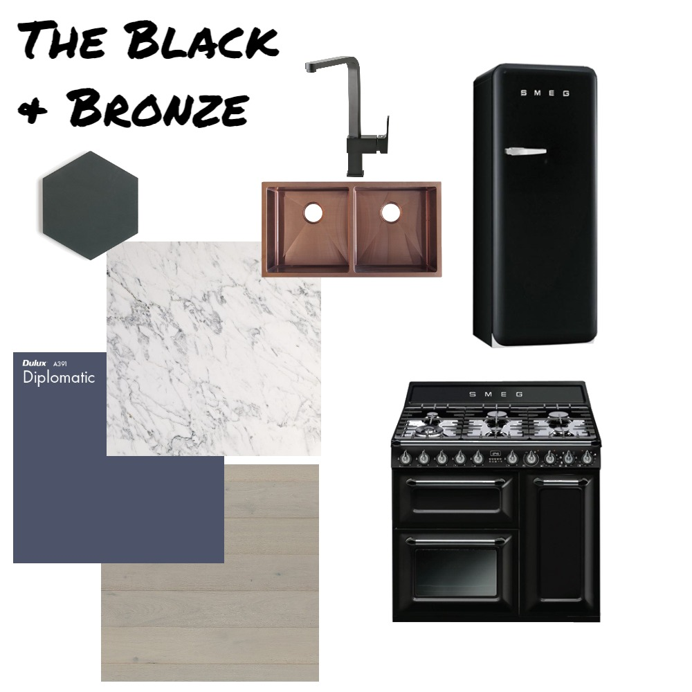 The Black and Bronze Mood Board by AnnieJornan on Style Sourcebook